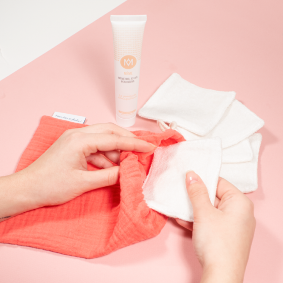 The Makeup Remover Balm and 5 jho washable cotton pads - MÊME Cosmetics