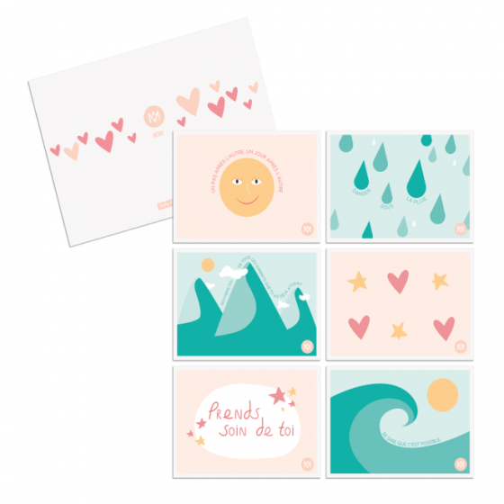 Comforting sweet words in 6 postcards - MÊME Cosmetics
