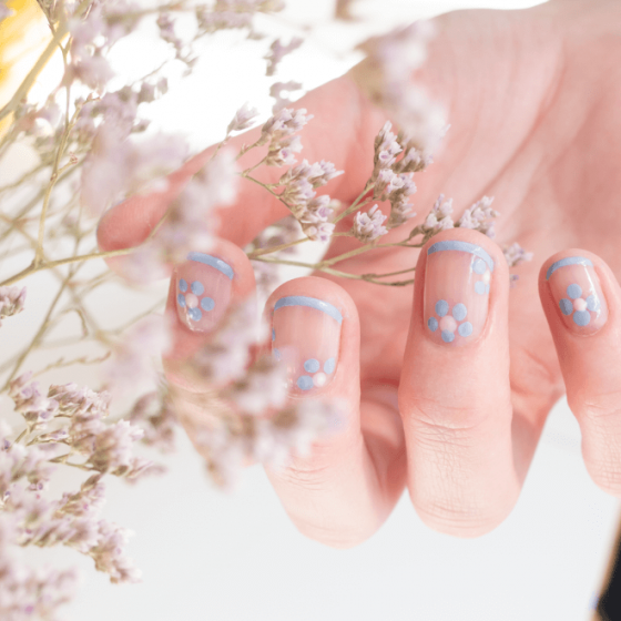 Lavender Blue Nail Polish with Silicon - MÊME Cosmetics