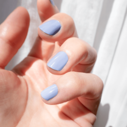 Long-lasting Lavender Blue Silicon Nail Polish - MÊME Cosmetics