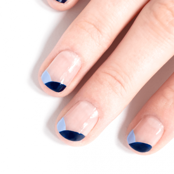 Lavender Blue and Navy Blue Manicure - MÊME Cosmetics
