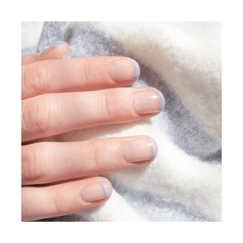 French Manicure Lavender and Nude Nail Polish - MÊME Cosmetics