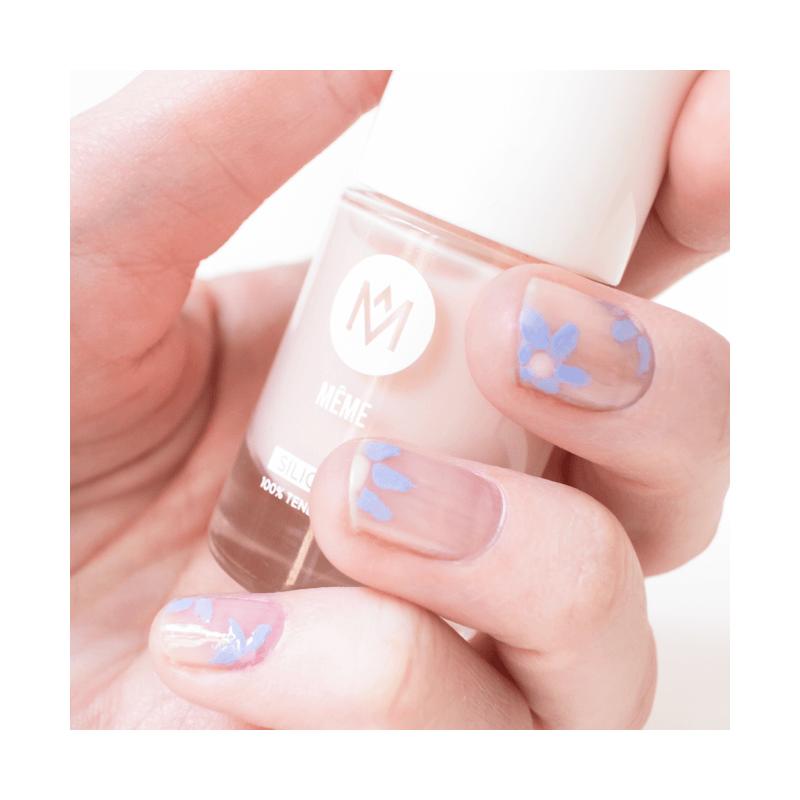 Long Lasting Nail Polish Lavender Blue and Nude - MÊME Cosmetics