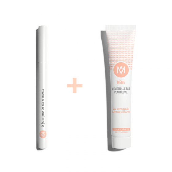 Eyebrow Pencil to redefine your eyebrows and Makeup Remover Balm - MÊME Cosmetics