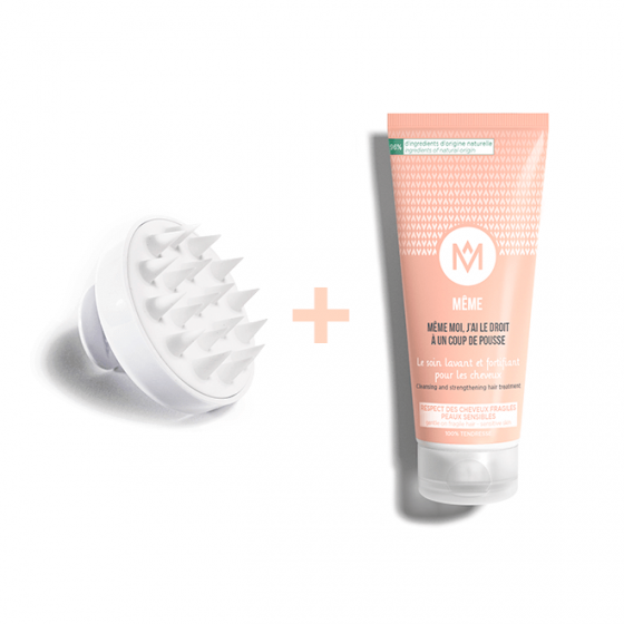 Hair Regrowth Kit - Ultra Gentle Shampoo and Massaging Brush - MÊME Cosmetics