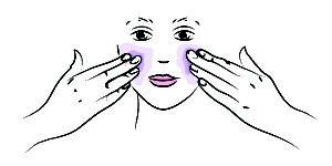Base colorée visage