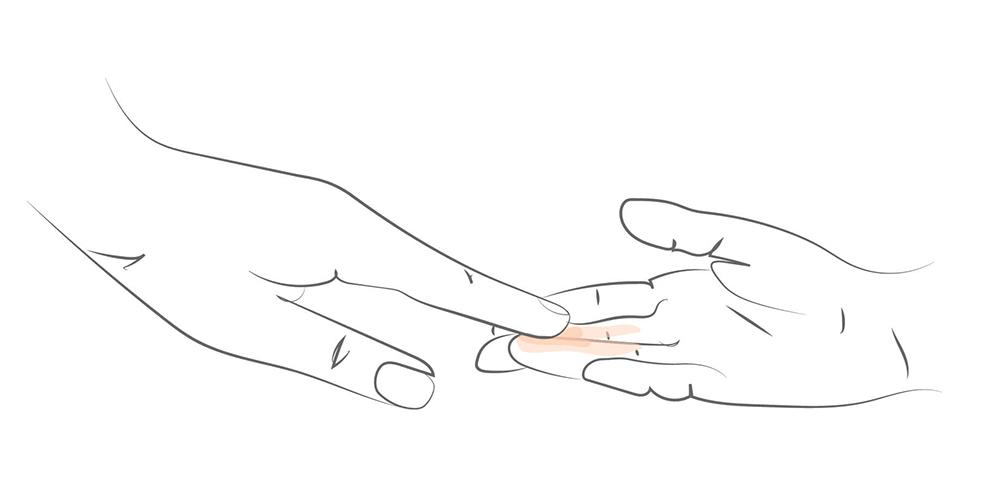 Etaler matière teint au doigt