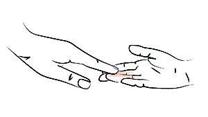 Chauffer la matière entre ses doigts
