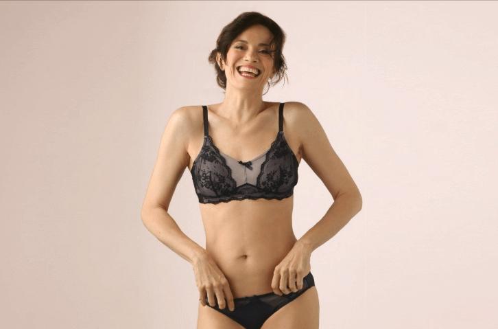 Mastectomie ou stomie - Belle et confiante en lingerie_ MEME