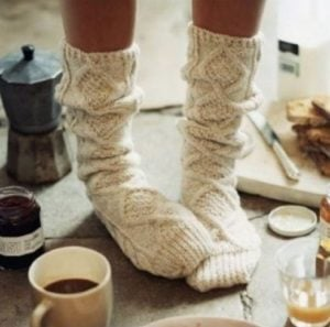 hygge cancer chaussettes