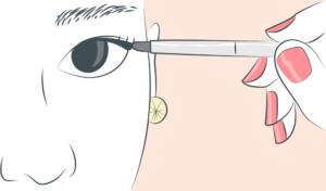 Cils et cancer le trompe l'oeil de l'eye-liner