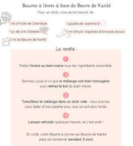 MÊME RECETTE-BEURRE-KARITE-stick à lèvres