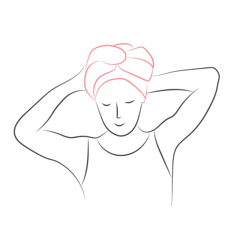 tuto nouage foulard turban d'orient 7