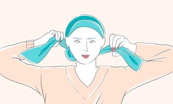 3 manières de nouer votre foulard pendant la chimio !