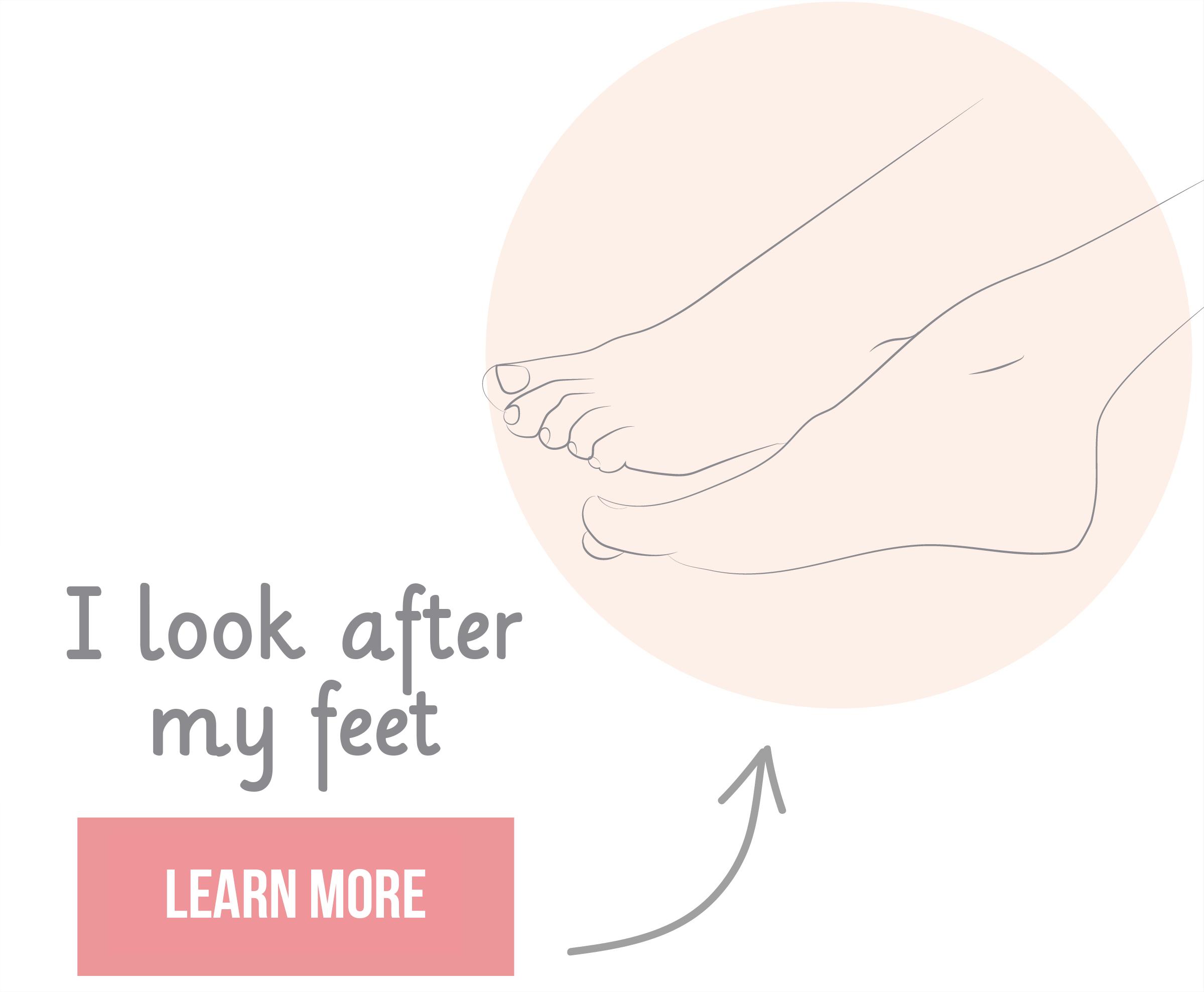 Je prends soin de mes pieds