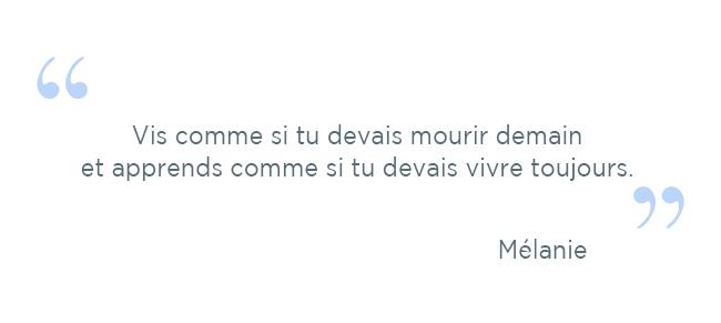 citation Mélanie